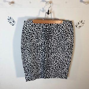 Banana Republic Animal Print Skirt Size 10